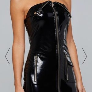 Patent leather dress